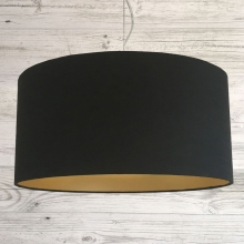 Midnight & Gold Drum Lampshade